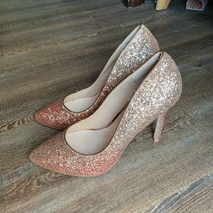 Women's gold heels